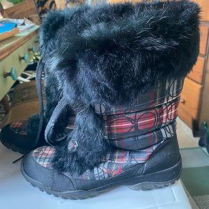 Coach Jennie fur plaid boots